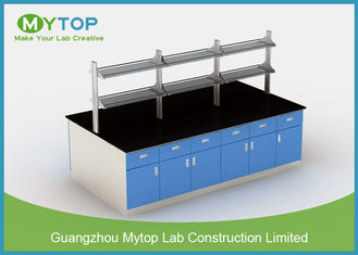 Floor mounted Science Laboratory Furniture With Reagent Rack and Suspended Cabinet